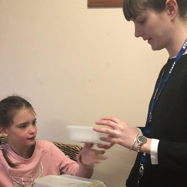 Mansfield Autism Practitioner in home with a child